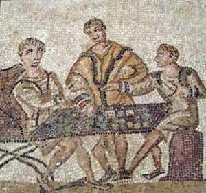 Romains jouant aux dés