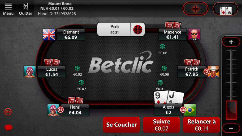 Application Betclic Poker