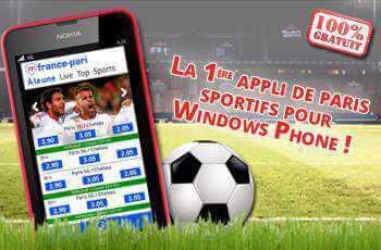 France-Pari disponible sur Windows Phone