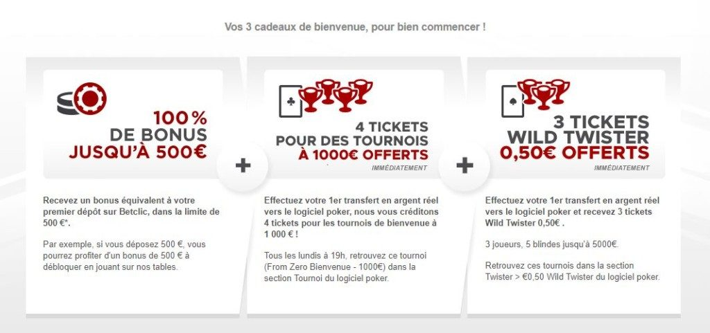 Calendrier Betclic.Bonus Betclic Poker 2019 Jusqu A 500 Offerts Kelbet