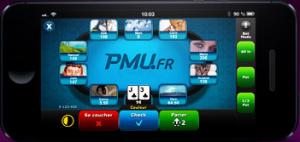 PMU Poker sur mobile