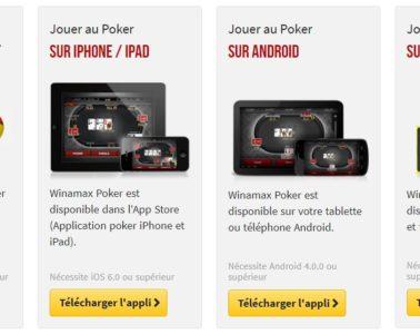 Application mobile Winamax