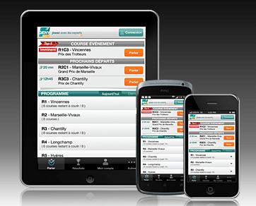 Genybet : courses sur mobile