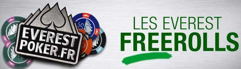 Everest Poker : Freerolls et tournois de poker gratuits