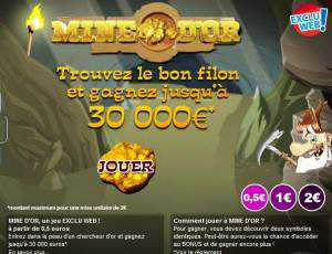 jeu de grattage mine d'or de la FDJ