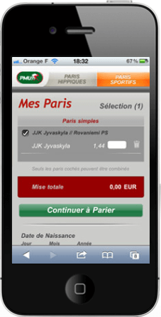 Application PMU paris sportifs