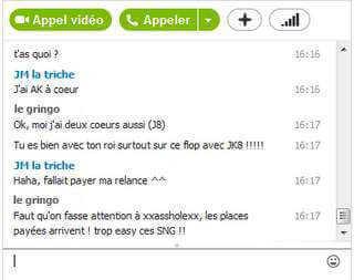 Tricher par Skype