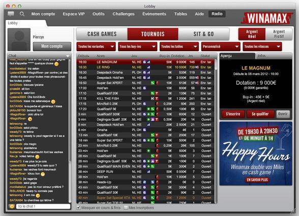Lobby poker Winamax