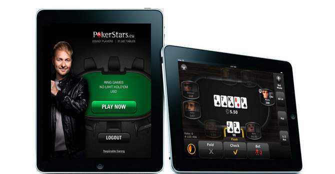 poker sur tablette