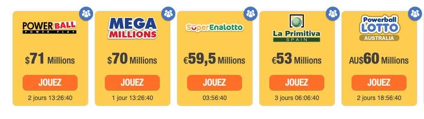 Tous les lotos pris en charge sur The Lotter