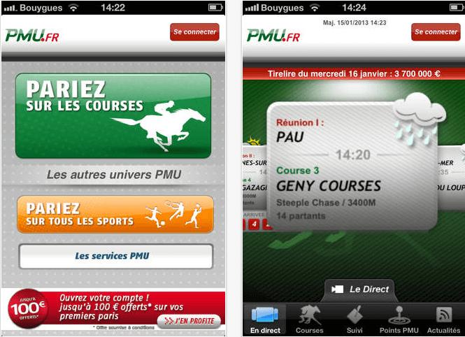 PMU sur smartphone