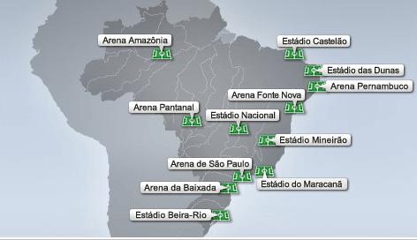 Stades Coupe du Monde 2014