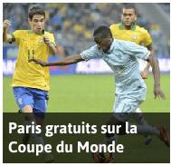 Paris gratuits sur la Coupe du Monde