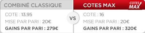 combiné classique vs cote max