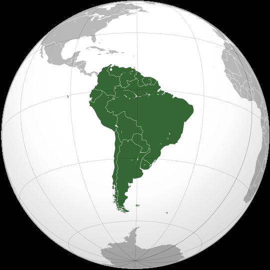 zone Amerique du Sud