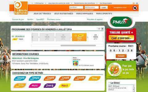 site pmu suisse romande