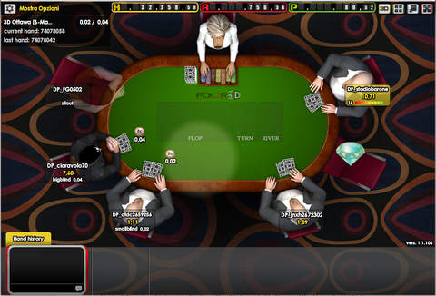 Table de poker 3D sur 777-gaming.be
