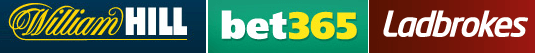 William Hill, Bet365 et Ladbrokes en France