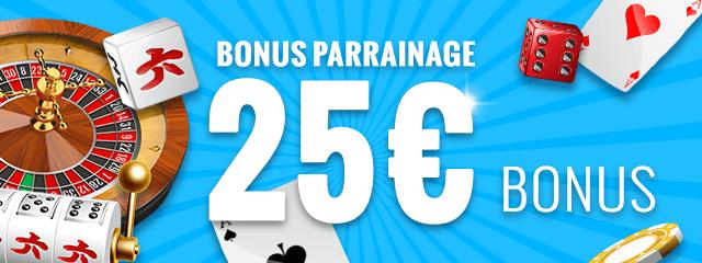 Bonus parrainage 25 €