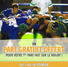 Promotion 1er pari gratuit PMU - Rugby