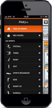 pmu appli mobile sport