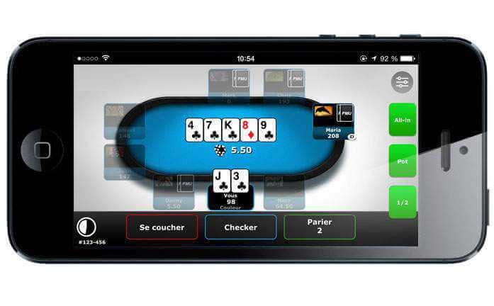 Appli PMU Poker