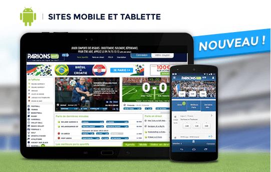site mobile parions web2
