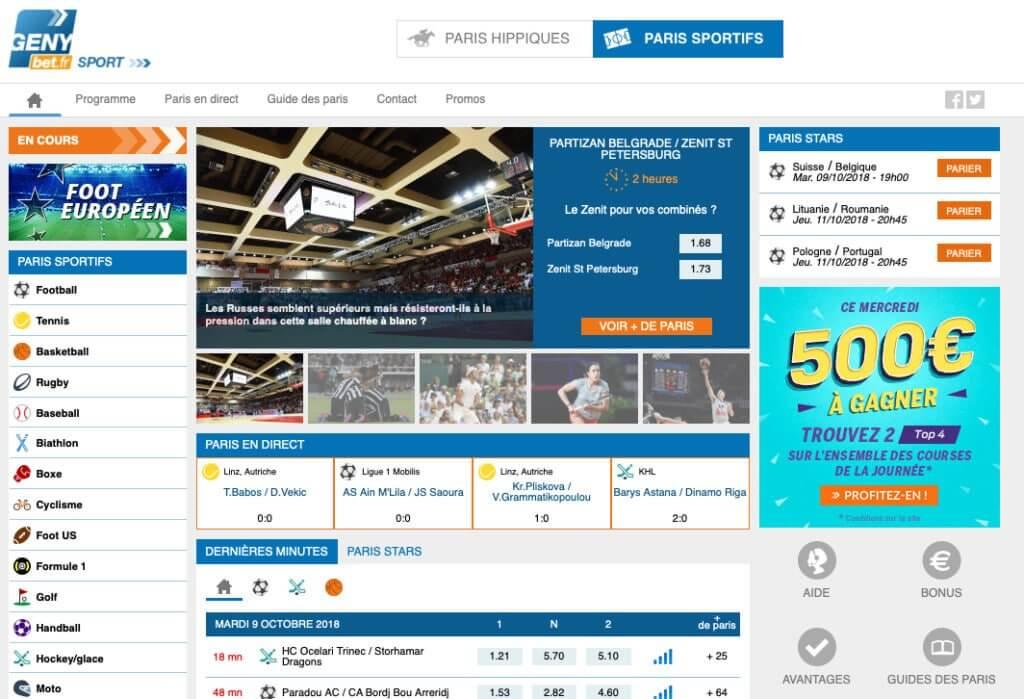 Genybet meilleurs sites de paris sportifs