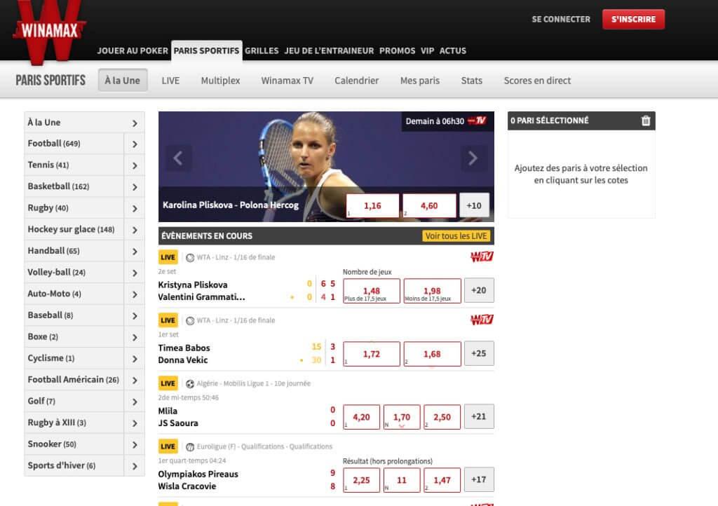 Winamax meilleurs sites de paris sportifs