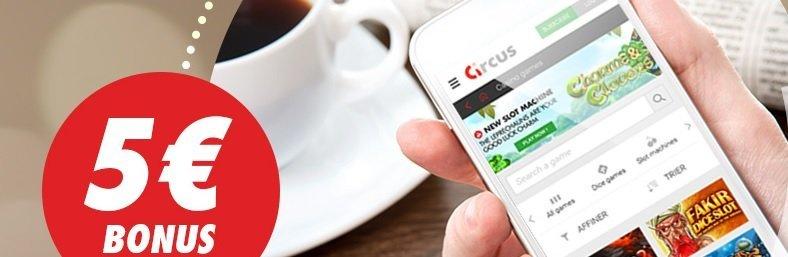Bonus SMS Circus termes et conditions