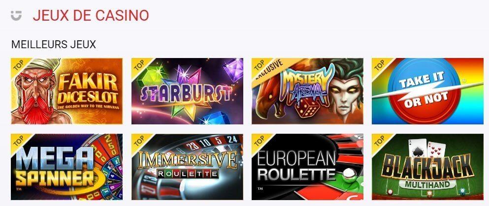 Offre de jeux casino circus