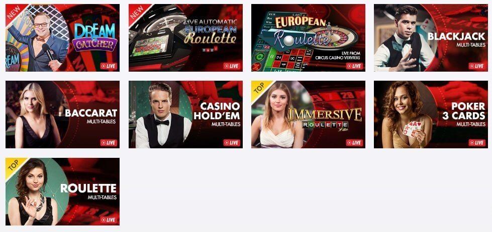 Logiciel et navigation circus casino