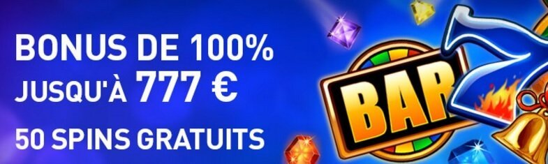 bonus de bienvenue casino777
