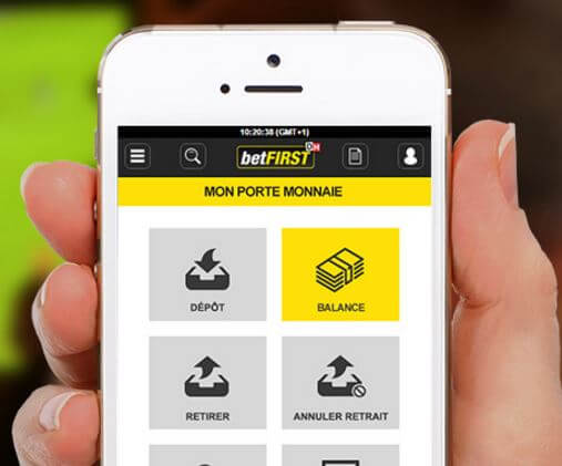 caisse betfirst sur mobile