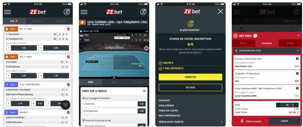 Appli iPhone de ZEbet