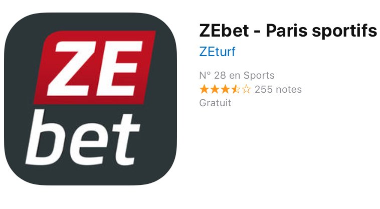 appli mobile zebet android