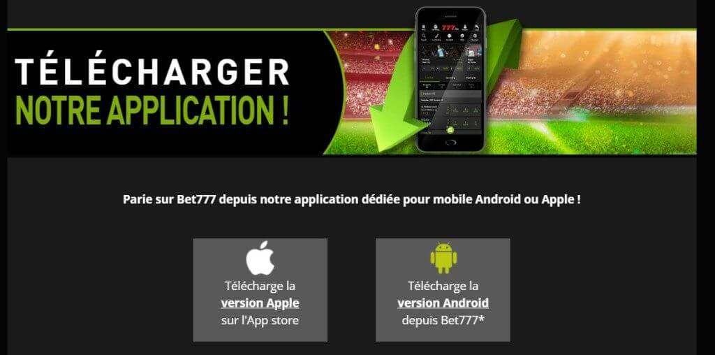 Application mobile Bet777