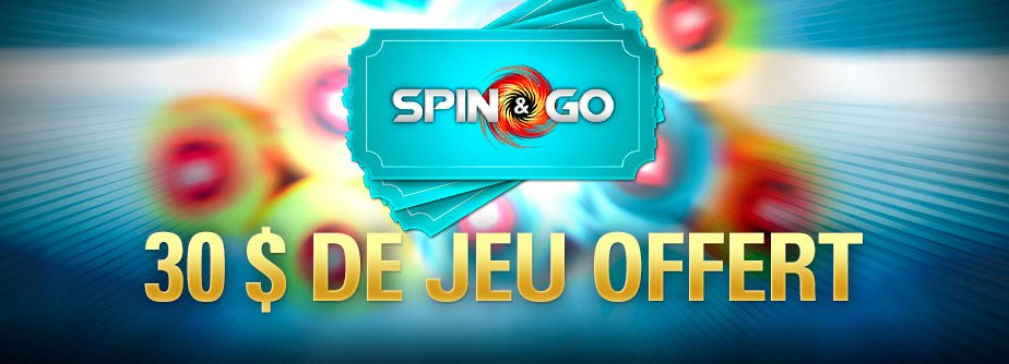 Obtenez 30 dollars de Spin & Go sur PokerStars