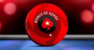 Jusqu'à 500€ offerts par Poker Stars sur votre 1er versement