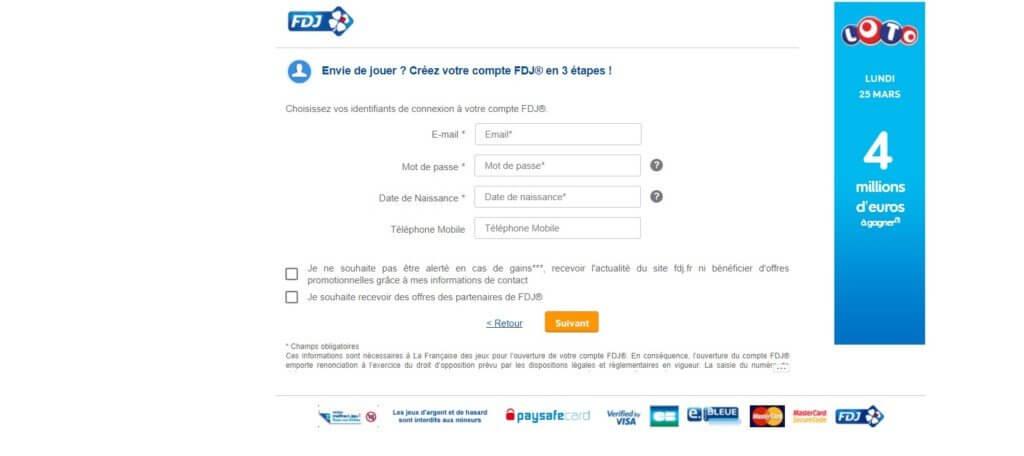 Ouvrir un compte chez la FDJ