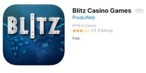 Application mobile Blitz casino