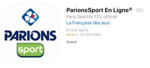 Mobile app de ParionsSport