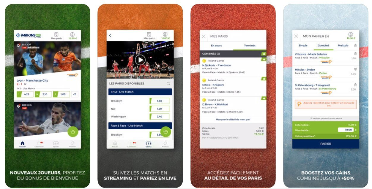 Application iOS et Android Parions Sport