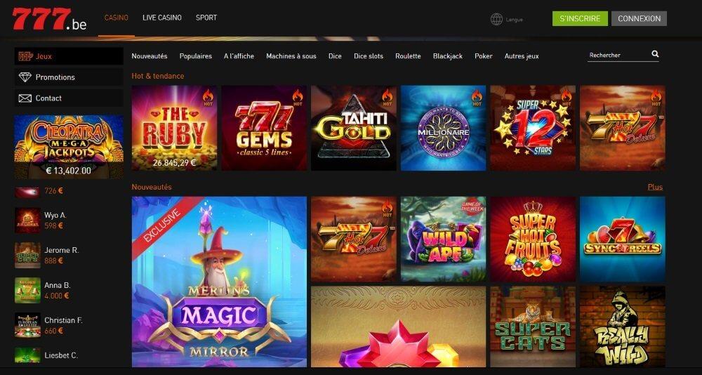 casino 777 belgique