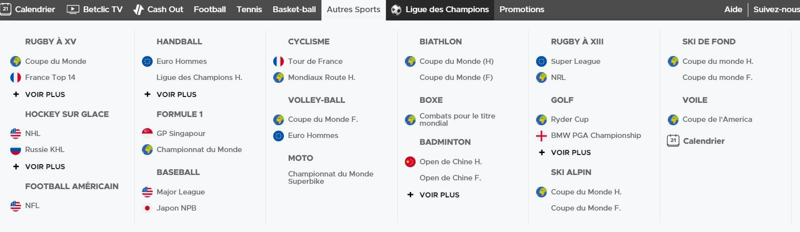 Comparatif bookmakers