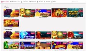 Catalogue de jeux myjackpots