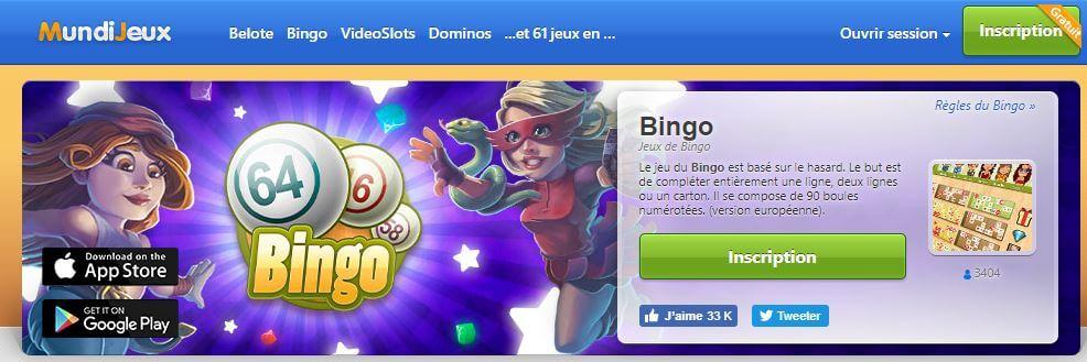 bingo en ligne mundijeux