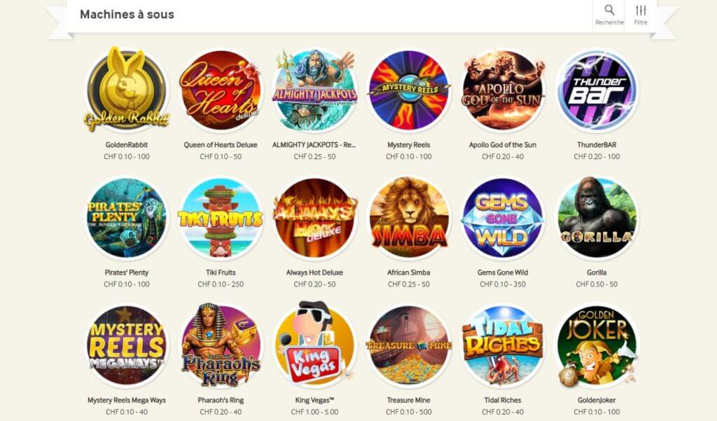 mycasino machines à sous