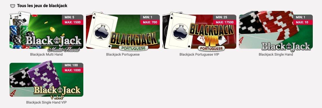 Catalogue de jeu jackpots.ch