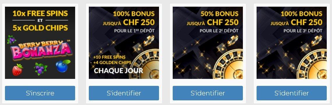 Bonus SwissCasinos